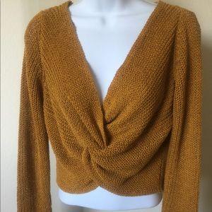 Zara marigold reversible knit